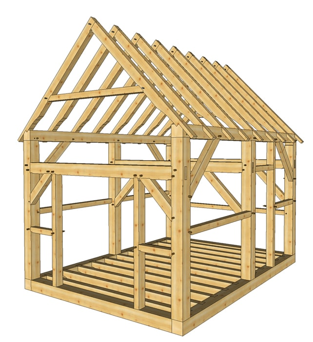 My Shed plans construction of a garden shed